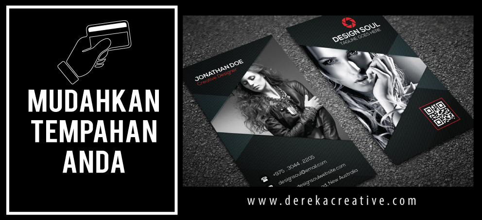Cara Tempah Business Card.